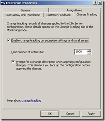 changetracking