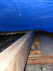 East/West beam with me pushing the tarp up