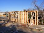 Exterior walls up, Tuesday