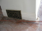 Baseboard with the original vent