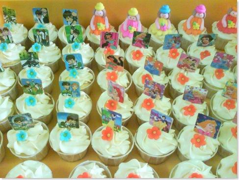 Ben10 and Princess cupcakes