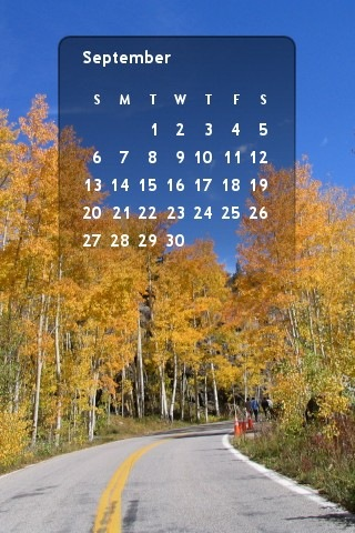 Aspen sept 09 Calendar Wallpaper- iPhone