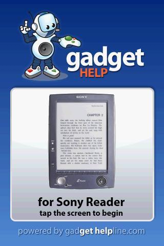 Sony Reader - Gadget Help