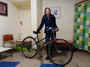 Alice P. et son vélo Mercier