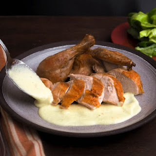 Roasted Chicken With Classic or Curry Soubise (Onion Sauce)