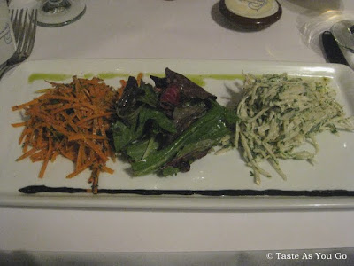La Salade de Carottes et Céleri Remoulade & La Salade Verte Organique aux Fines Herbes at Le Paris Bistrot in New York, NY - Photo by Taste As You Go