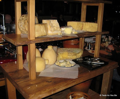 Cheese Display at Osteria in Philadelphia - Photo by Taste As You Go