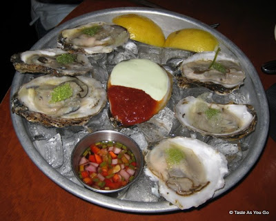 Oysters on the Half Shell at Apollo Grill in Bethlehem, PA - Photo by Taste As You Go