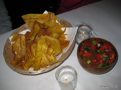 Plantain Chips and Salsa at Ideya Latin Bistro in New York, NY - Photo by Taste As You Go