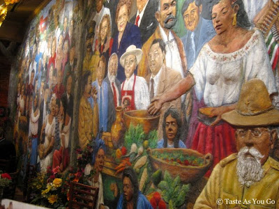 Mural Wall at Mi Tierra Cafe & Bakery in San Antonio, TX