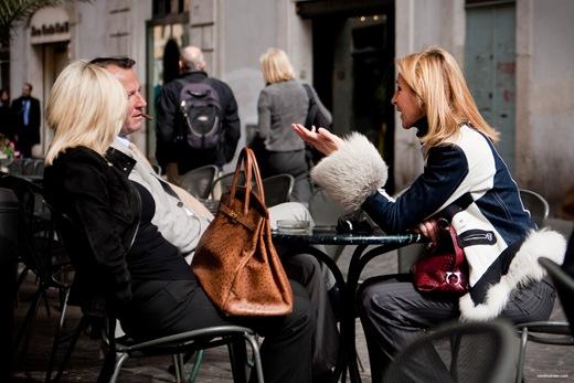 Rom, Campo di Fiori, Szene in einem Cafe