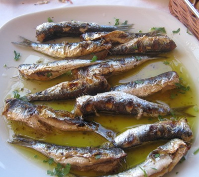 rhethymno cliffside lunch sardines