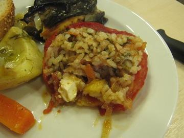 chania lunch plate tomato closeup