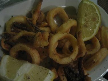 ambrosia dinner calamari