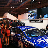 aston martin car on yokohama stand autosport 2011