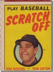 1970 Juan Marishal Topps Scratch Off