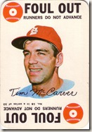 1968 Topps Game McCarver