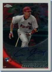 2010 Topps Chrome Craig RC Auto