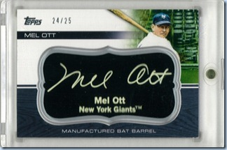2010 Topps UH Ott Black Bat 24 of 25