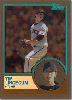 2008 Topps Chrome Lincecum TCH Brown Refractor 20 of 100