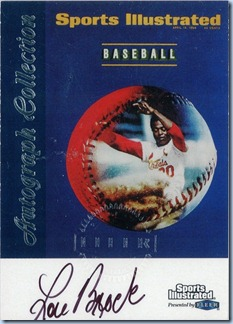 1999 Fleer SI Brock Auto