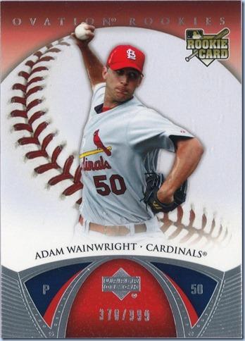 2006 UD Ovation Wainwright RC 378 of 999