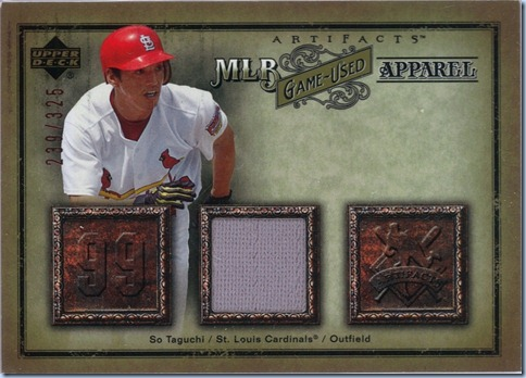 2006  UD Artifacts Taguchi Jersey 239 of 325