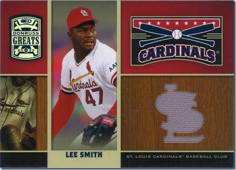 2005 Donruss Greats Lee Smith Jersey