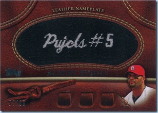 2011 Topps S1 Pujols Black Leather 55 of 99