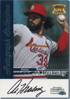 1999 Fleer GOTG Hrabosky Auto