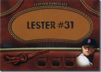 2011 Topps Lester Name Plate
