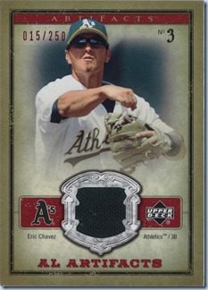 2006 UD Artifacts Chavez Green Jersey 15 of 250