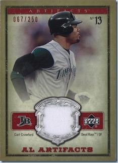 2006 Artifacts - Crawford Jersey 67 of 250