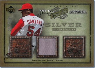 2006 Artifacts - Santana Jersey 237 of 250