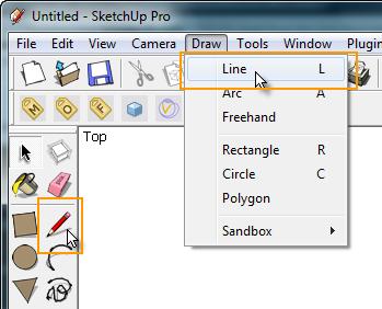 SketchUp Basic : การใช้งานเครื่องมือ Line Lineselect