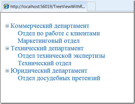 Скриншот: Результат выполнения TreeViewWithRepository
