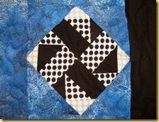B W block truck quilt