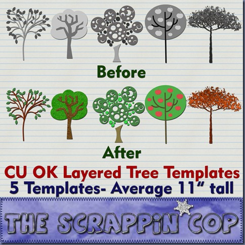 http://thescrappincop.blogspot.com/2009/10/cu-ok-layered-tree-templates.html