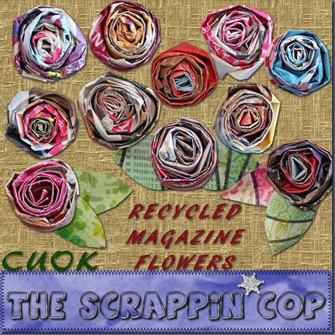 SC_RecycledMagazineFlowers