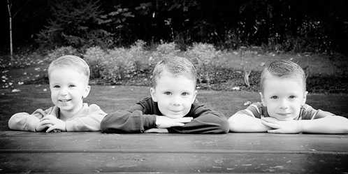boys at table2 bw