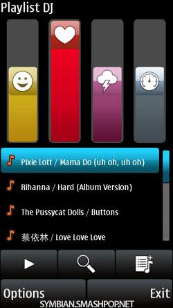 Nokia X6 Playlist DJ