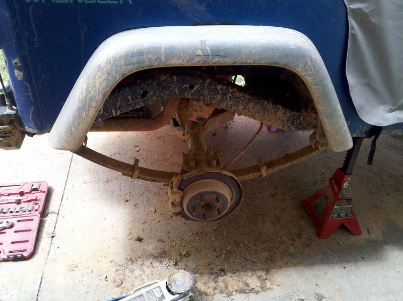 passenger side pre removal - ubolt flip