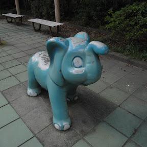 公園遊具:練馬区貫井1丁目のライオンと象