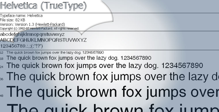 I can't believe Helvetica is not part of my font collection : Fonts for Free Download