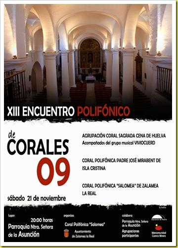 CARTEL ENCUENTRO DE CORALES 800