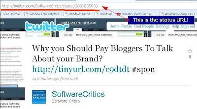 Twitter status URL