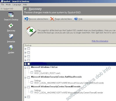 XP Smart Secuity effect on registry as detected by Spybot Search and Destroy