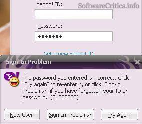 Yahoo Error 81003002