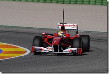 Massa su Ferrari F10