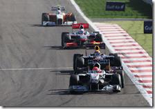 Il trenino guidato da Schumacher al gran premio del Bahrain